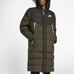 Nike long jacket/ puffer